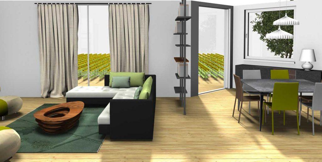 Aménagement dun espace ouvert intérieur extérieur cerezo
