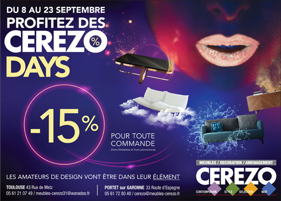 CEREZO Days – 8-23 Septembre 2017