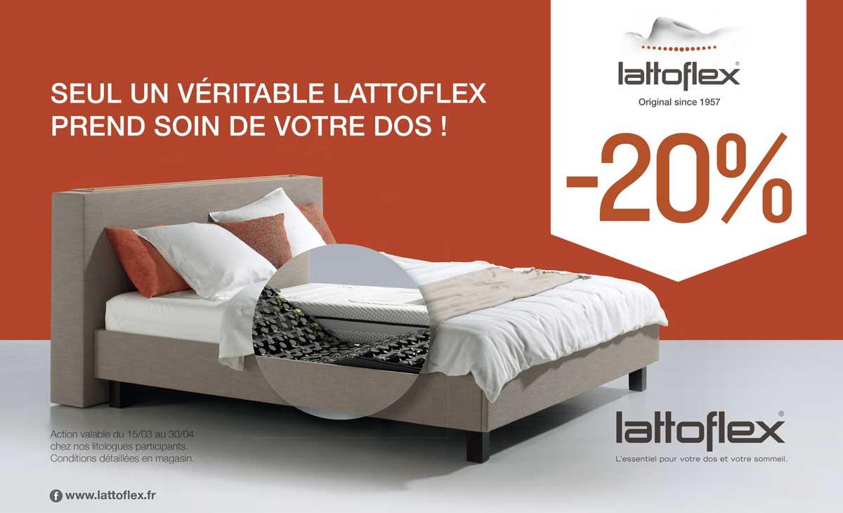 Lattoflex, -20% du 15 mars au 30 avril 2018