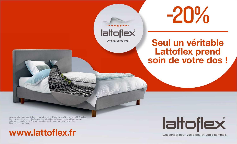 -20% Seul un vrai Lattoflex prend soin de votre dos !