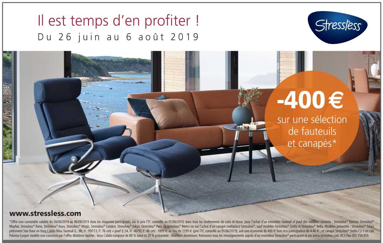 Il est temps d'en profiter !-400 € sur une sélection de fauteuils et canapés*